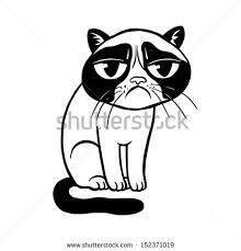 Image result for cartoon illustration of a sad cat