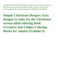 Download Pdf Simple Christmas Designs Easy Designs To