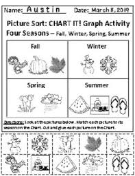 The Four Seasons Chart Graphing Activity With Answer Key