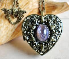 locket size photos blue dragons breath glass opal music box locket chars favorite things