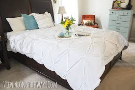 make your own pintuck duvet with two flat sheets simple and