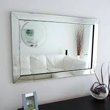 glass framed mirror mitred corners x cm mirrored beveled frame mirrors