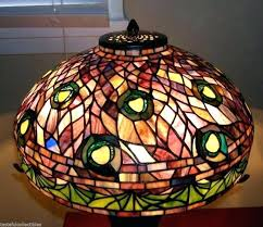 stained glass lamp shade kits shades for table lamps retro amber slag leaded
