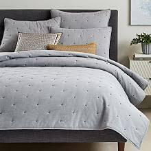 Modern Quilts & Coverlets | west elm & Organic Oxford Quilt + Shams Adamdwight.com