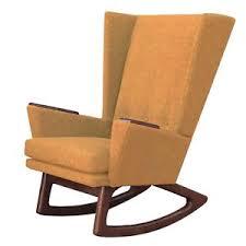 contemporary rocking chair.  Chair Image Is Loading MustardSeedTweedMidCenturyModernRockingChair In Contemporary Rocking Chair A