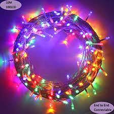 MYGOTO Outdoor Christmas led String Lights 100 LEDs <b>10M</b>/33FT ...