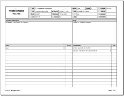 Work Order Form Job Sample Excel Melo In Tandem Co Template Samples