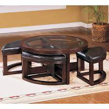 pieces coffee table with 4 ottomans at hayneedle glass top coffee table with 4 ottomans