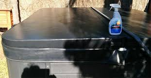 how to clean vinyl hot tub cover using 303 aerospace protectant conditioner