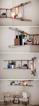 15 Inspiring Ladder Hacks For Every Room. Bookshelf LadderBookshelf  StylingDiy Bookshelf WallCorner Ladder ShelfDecorating ...