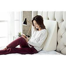 Therapedic Reading Wedge Pillow With Knit Cover In White