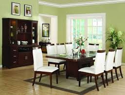 R Beautiful Green Paint Colors For Dining Room With Brown Table And White  Chairs