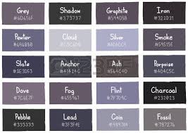 Grey Tone Color Shade Background With Code And Name Illustration Royalty  Free Cliparts, Vectors, And Stock Illustration. Image 49458865.