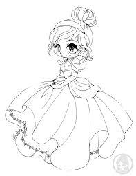 Disney Princesses Coloring Chibi 5 Princess Pages 2 Noscaorg