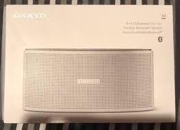 onkyo bluetooth speaker. new onkyo x3 portable bluetooth speaker in silver