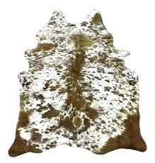faux brown and white cowhide rug rugs longhorn