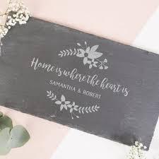 personalised housewarming gift slate serving board