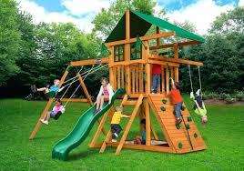 gorilla playset accessories outing deluxe wooden gorilla playground sets