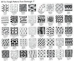 Zentangle Patterns Easy Cool Zentangle Patterns To Print Stock Illustration Black White Horse