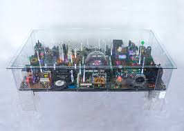 table recycled materials. Electri-City Coffee Table, Benjamin Yates, Recycled Materials, Recyclable Design, Green Table Materials M