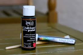 Chalkboard Paint Wine Bottles and markers
