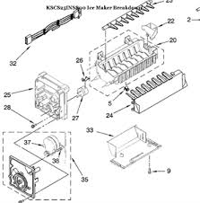 kitchenaid ice maker parts diagram wiring diagram for you • solved kitchen aid kscs25inss ice making replenishment fixya rh fixya com kitchenaid refrigerator ice maker replacement