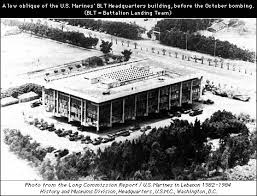 Image result for the U.S. Marine Corps barracks in Beirut before attacked