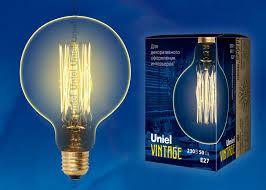 Ретро <b>лампа</b> Эдисона 60Вт G125 <b>IL</b>-<b>V</b>-<b>G125</b>-<b>60</b>/<b>GOLDEN</b>/<b>E27</b> ...