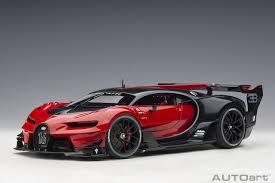 Bugatti tells us this vision gt previews the next generation of bugatti's design language. Bugatti Vision Gt Italian Red Black Carbon Autoart