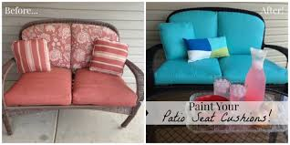 painting patio furniturePaint Your Patio Seat Cushions and Transform Your Patio for Less