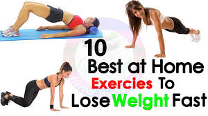 top 10 home exercises to lose weight quickly