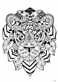 Small Picture zentangle lion Animals Coloring pages for adults JustColor
