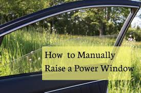 instructions for how to open or close the power window on your car manually