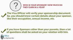 about your sponsor visa financial interview question about your sponsor visa financial interview question