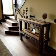 T Metal And Wood Custom Entry Tables By Justin Bearden