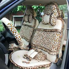 leopard print seat covers leopard print lace car seat covers for women universal short plush winter leopard print seat covers