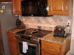 Granite Countertops And Backsplash Ideas Classy Kitchen Fair Picture Of Small Kitchen Decoration Using Diagonal