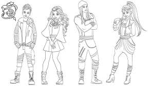 Characters From Disney Descendants Coloring Pages Get Coloring Page