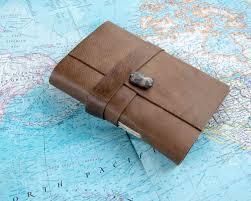 personalized travel journal custom leather bound journal monogram writing notebook