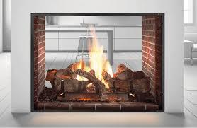 back to elegant see through fireplace