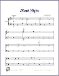 sheet music silent night free sheet music silent night for easy piano my favorite freebies