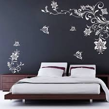image is loading butterfly vine flower wall decals vinyl art stickers  on wall decal vinyl art stickers decor with butterfly vine flower wall decals vinyl art stickers living room
