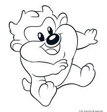 Small Picture Free printable baby looney tunes taz coloring pages for kids