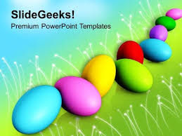 Colorful Easter Eggs Spring Festival Powerpoint Templates