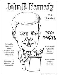 Small Picture John F Kennedy Coloring Page Coloring Pages Pinterest Social