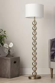 threshold mercury glass stacked ball floor lamp brass ad lights large cross table global interior