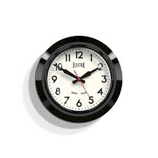 office clocks. Small Black Retro Wall Clock | Office Newgate Clocks Electric 44K