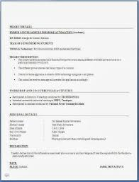 Resume Format Pdf For Mechanical Engineering Freshers Download