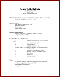 Sample Resume For Working Students With No Work Experience Sample Resume  College Student No Experience Best
