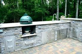 big green egg outdoor kitchen in kitchens eggs l shaped outdoor kitchen with